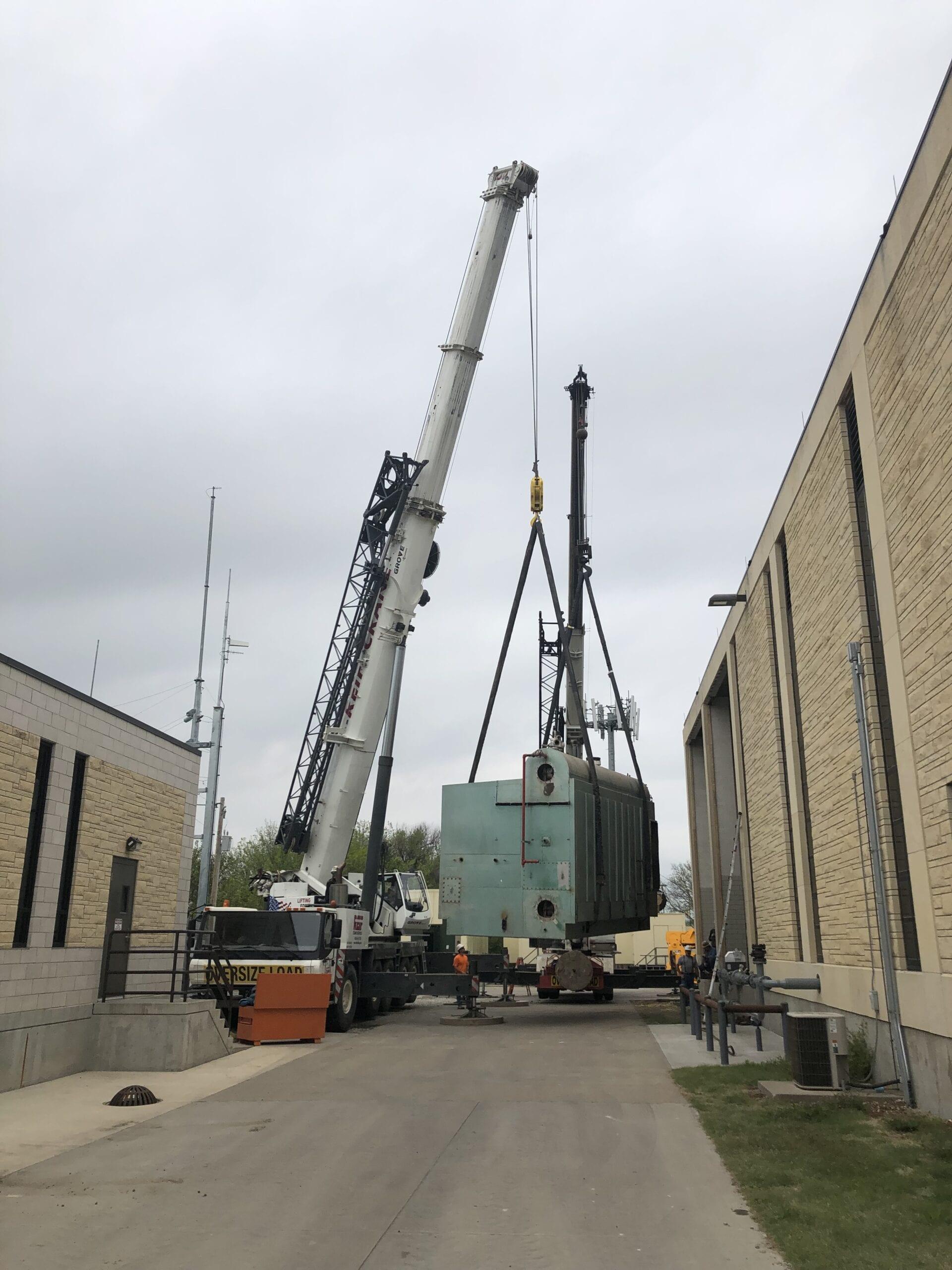 crane lifting object